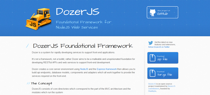DozerJS Foundational Framework